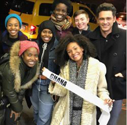 James Franco visits School Girls; or, The African Mean Girls Play!