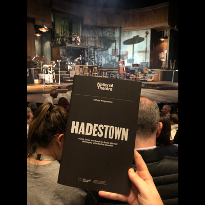 Hadestown heats up the National Theater in London, where it recently opened!