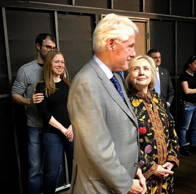 "The entire Clinton family took in a performance of ""To Kill A Mockingbird"""