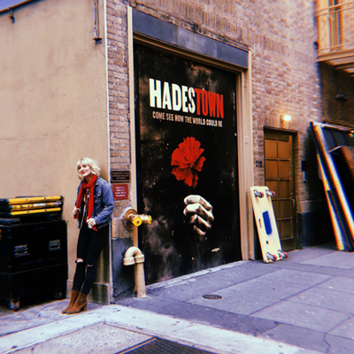 """Presenting the one & onlyAnaïs Mitchell, creator of""""Hadestown"""", outside of the Walter Kerr"""