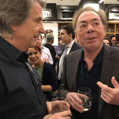 David Rockwell and Lord Andrew Lloyd Webber toasting the spring season!