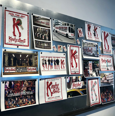 "Six years of campaign art, photography, and ideas for the Tony Award®-winning ""Kinky Boots"""