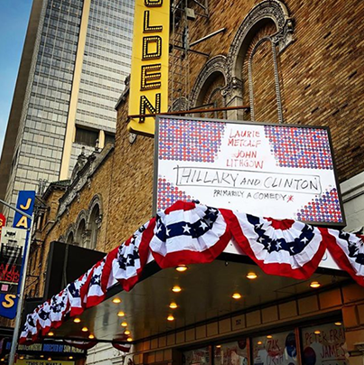 Opening night, bunting and all!