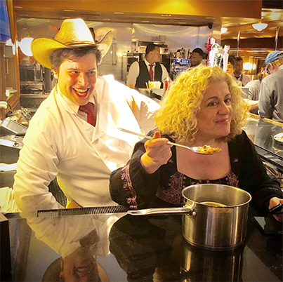 Tony Award nominee Mary Testa served her famous Aunt Eller's Chili at Brooklyn Diner!