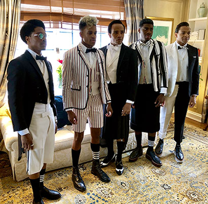 """Ain't Too Proud"" at the Met Gala — classic Thom Browne camp!"