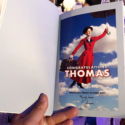 One doozy of an Ad (courtesy of the legendary Sir Cameron Mackintosh) for the one-and-only Thomas Schumacher