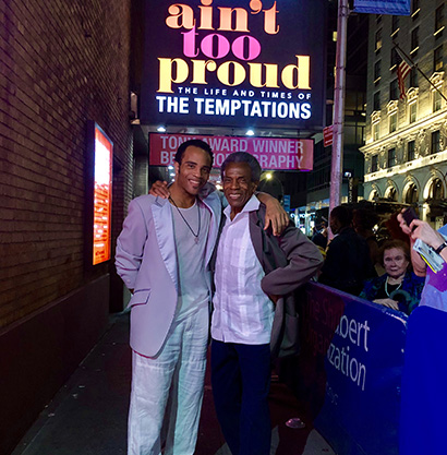 André De Shields spends an evening with the Temptations for The Actors Fund