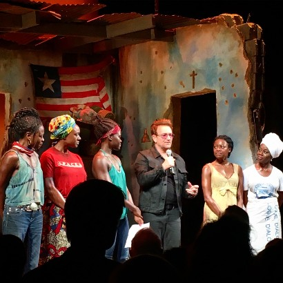 "Bono at Danai Gurira's ""Eclipsed"""