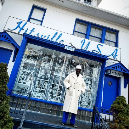 Otis Williams outside Motown's Hitsville USA