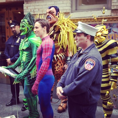 SPIDER-MAN Turn Off The Dark & New York's finest and bravest